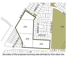 Cadastral Map of Rezoning Area