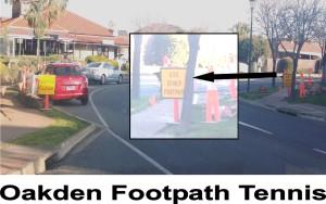 Oakden Footpath Tennis
