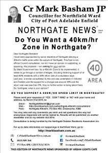 Northgate News 40kmhr flyer 0316